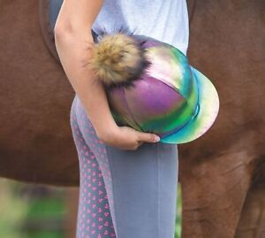 HAT COVER METALLIC | Shires Skull Cap Horse Riding Helmet Hat Cover | ONE SIZE
