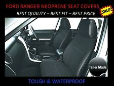 FORD RANGER PX1 FRONT & REAR DUAL CAB  NEOPRENE SEAT COVER   WETSUIT MATERIAL