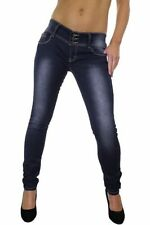 Cotton Faded Regular Size Low Rise Jeans for Women