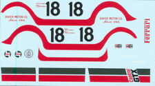 "Decal sheet 1/43 Ferrari 365 GTB/4 Daytona #18 ""Castrol"" Watkins Glen 1972  NEW"