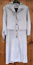 ASOS Mac / Trench Coat Size 8 Light Grey Long Line Cape Back Jacket Spring