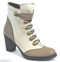 Hush Puppies Stiefelette 37 LEDER Boots Plateau Taupe Braun Heels DamenSchuh NEU