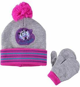 VAMPIRINA DISNEY Sweetly Vee Winter Beanie Hat & Mittens Set w/ Pom-Pom