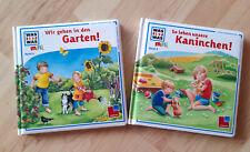 ? 2 Bücher zum Vorlesen ? Bilderbücher ? Was ist was Mini ? Garten + Kaninchen