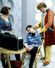 Colin Baker, Kevin McNally & Nicola Bryant UNSIGNED photo - H8046 - Doctor Who