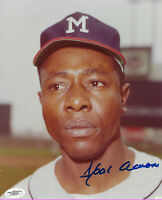 BRAVES Hank Aaron signed photo 8x10 JSA COA AUTO Autographed Milwaukee