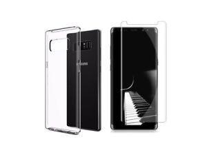 Samsung Galaxy Note 8 - Coque souple anti choc + 1 verre trempé incurvé