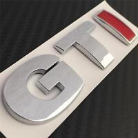 GTI BOOT BADGE VW GOLF POLO LUPO MK4 MK5 MK6 TDI R GT TURBO **NEW** Chrome & Red