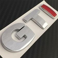 GTI BOOT BADGE VW GOLF POLO LUPO MK4 MK5 MK6 TDI R GT TURBO **NEW** Chrome & Red