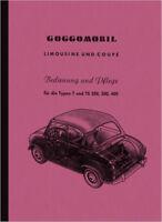 Glas Goggomobil T TS 250 300 400 ccm Bedienungsanleitung Bedienung Handbuch
