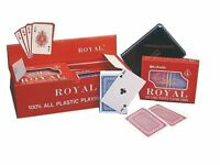 Royal 100% Plastic Playing Cards With Geometric Pattern - 2 Deck Set Bridge Size