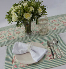 VINTAGE THEMED TABLE RUNNER / 2 PCS PLACE MATS HOME TABLE DECOR EVENTS