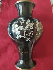 Antique Baseball Award Korean Baseball League Mother Of Pearl Vase