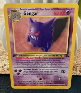 Gengar 20/62, 1 Edition, Fossil, Deutsch/German, Near Mint/NM   WOTC PSA