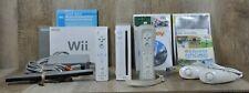 Nintendo Wii Bundle RVL-001 W/ Wii Sports 2 Controllers 2 Nunchucks & Wii Sports