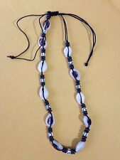 Cowry/Cowrie Shell Black Bead Adjustable Choker/Necklace New