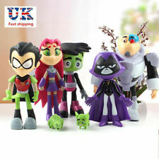 Uk 7Pcs Teen Titans Go Robin Cyborg Beast Boy Raven Starfire Action Figure Toy