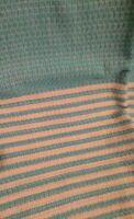 Turquoise / Aqua Cream Turkish Towel Throw Rug Blanket 100% Cotton 94x172cm