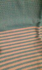 Turquoise & Cream Turkish Towel Throw Rug Blanket 100% Cotton 94x172cm