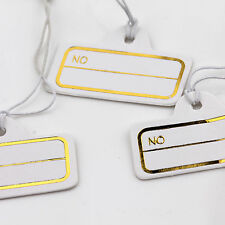 100pcs Jewelry Necklace Ring Watch Cloth Price Tags Display Label Sticker String