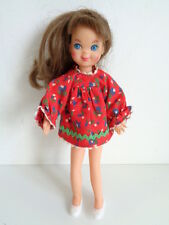 Vintage 1965 Barbie Tutti Brunette Doll with skipping rope dress + white shoes
