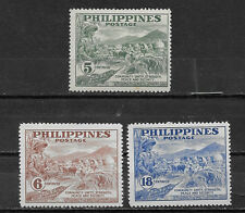 PHILIPPINES ,1951 , PEACE FUND , SET OF 3 ,  PERF,  MNH