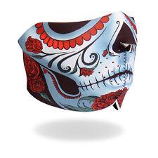 Motorrad Tribal Rose Calavera Face Mask Gesichtsschutz Halb Maske Sturmhaube NEU