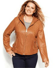 Women Lambskin Leather Hooded Stylish Jacket All Size Custom Made For New Year