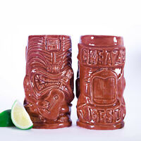 GreazeFest Tiki Mug Piston Head Ukulele by Black Lagoon Designs