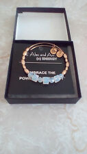 Alex & Ani Swarovski Crystal Beaded Gold Bangle Bracelet Exclusive Rare HTF