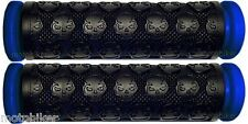 """KICK SCOOTER BLUE SKULL GEL GRIPS FITS RAZOR OTHER BARS WITH 7/8"""" HANDLEBARS"""