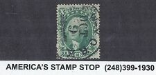 1857 US SC 33 George Washington - Toppan Carpenter Print - 10c Green, Type III*