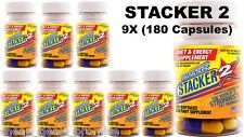 Stacker2 2 20 Capsules Weight Loss Energy Dietary Supple (Lot 9 X Bottles)= 180