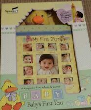 My first year baby keepsake photo album & journal  unisex.