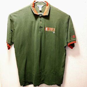 Seattle Sonics Mens VTG Champion NBA Basketball Green Polo Shirt SZ XXL