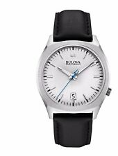 Bulova Accutron II Men's 96B213 Surveyor Quartz Black Leather Strap 41mm Watch