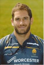 WORCESTER WARRIORS RUGBY UNION * SAM BETTY SIGNED 6x4 PORTRAIT PHOTO+COA