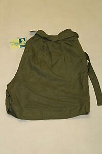 NEW Lane Bryant Womens Size 14/16 Olive Green Linen Blend Cuffed Shorts NWT