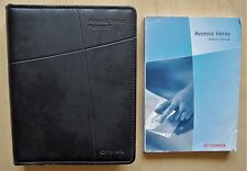 TOYOTA AVENSIS VERSO OWNERS MANUAL HANDBOOK FOR 2003-2009 CARS USED REF502