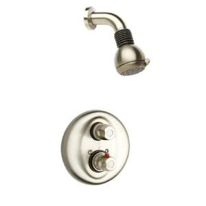 Water Harmony 2-Handle 2-Spray Shower Faucet With Thermostatic Valve And Volume