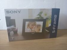 "Sony S-Frame DPF-D70 7"" Black Digital Photo Frame - NEW Open Box"