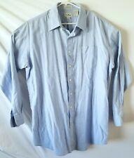 LL Bean Men's Light Blue Single Needle Tailoring Cotton Dress Shirt 17 1/2 36