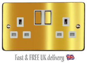 Chrome Gold Gloss Light Switch Sticker Vinyl / Skin Cover Decal