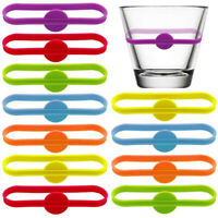 Silicone Wine Labels Wine Glass Markers Beer Glass Cup Bottle Strip Tags