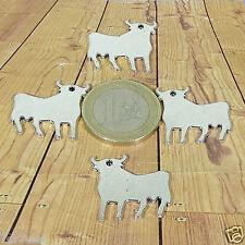 Tibetan Charm Pendant Bracelet Bull Stier 16 Pendants Bulls 22mm T226C Silver