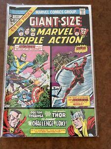 GIANT SIZE MARVEL TRIPLE ACTION # 2 - 1975 / Marvel