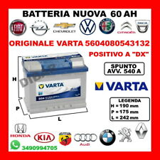 BATTERIA 60AH VARTA NUOVA AUDI A1-A3-A4-A5-A6-Q3-TT DA ANNO 1994 5K0915105D