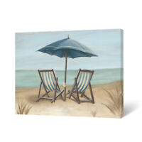 Beach Canva Wall Art Blue Seascape Prints for Bedroom Bathroom Decor 16x12 inch