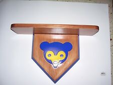 bobble heads  Cubs  display shelf  cherry stain  shelf 18 x 51/2 Blue face