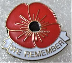RCL VETERANS POPPY Royal Canadian Legion WE REMEMBER VARIATION 2 Pin -2